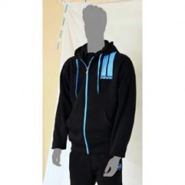 Rive Cippzáros kapucnis pulóver Fekete / AQUA M